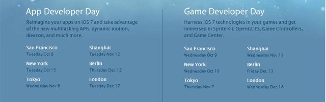 ios7 tech talks schedule