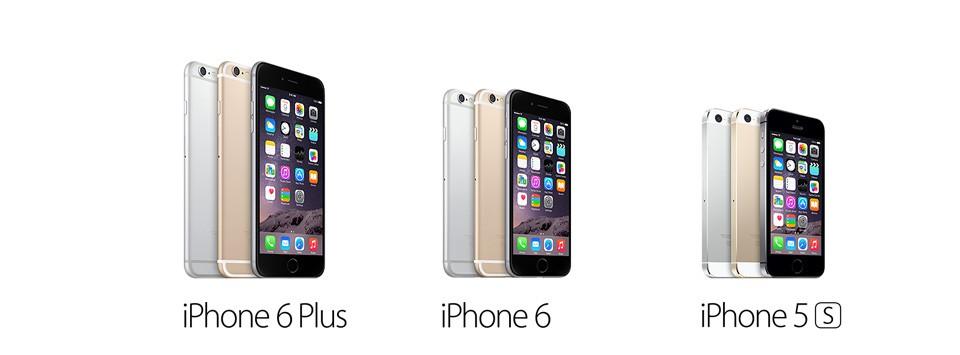 Характеристики iPhone 6 Plus, iPhone 6 и iPhone 5S