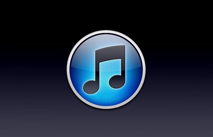 itunes logo black background