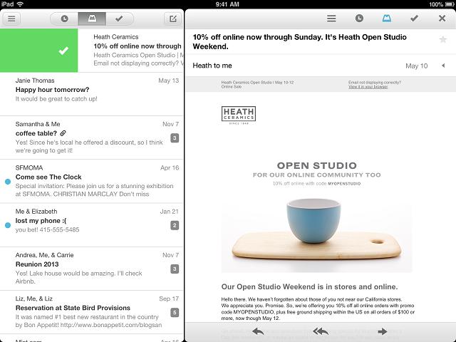 Лучшие почтовые клиенты для iPad