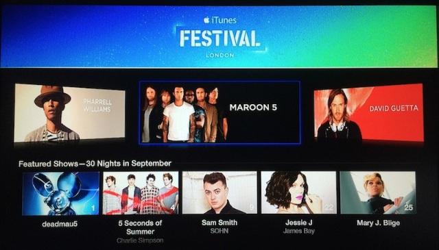 Канал iTunes Festival 2014 стал доступен наApple TV