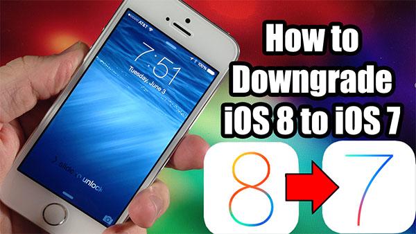 откат с iOS 8 на iOS 7