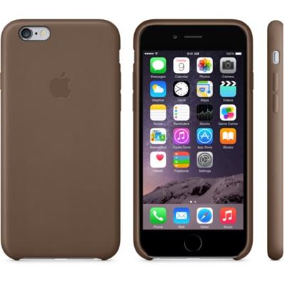 Шоколадный кожаный чехол для iPhone 6 и iPhone 6 Plus