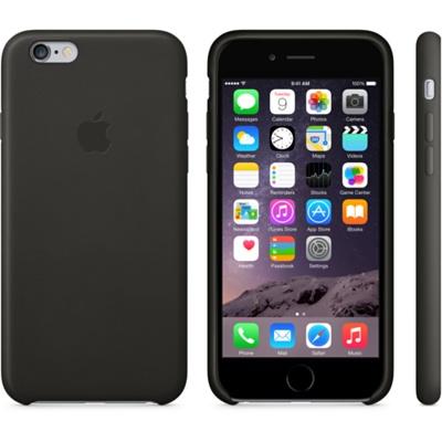 Черный кожаный чехол для iPhone 6 и iPhone 6 Plus