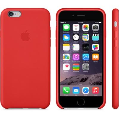 Красный кожаный чехол для iPhone 6 и iPhone 6 Plus