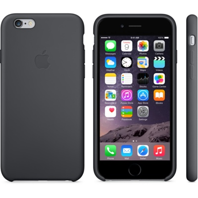 Черный силиконовый чехол для iPhone 6 и iPhone 6 Plus