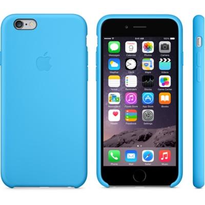 Голубой силиконовый чехол для iPhone 6 и iPhone 6 Plus
