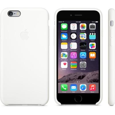 Белый силиконовый чехол для iPhone 6 и iPhone 6 Plus