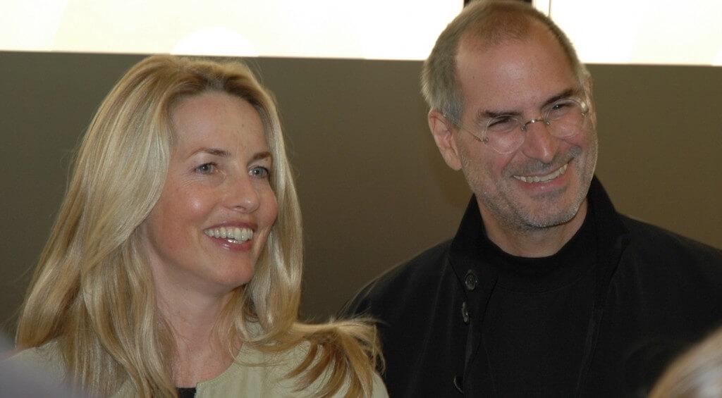 Стив Джобс со своей женой Лорен Пауэлл