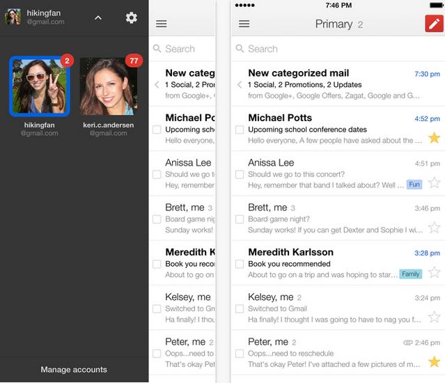Google обновила свой почтовый клиент для iOS интерактивными уведомлениями