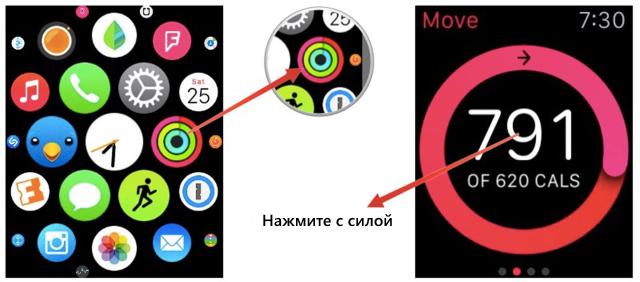 Как установить цель поотслеживанию сброшенных калорий вприложении Активность наApple Watch?