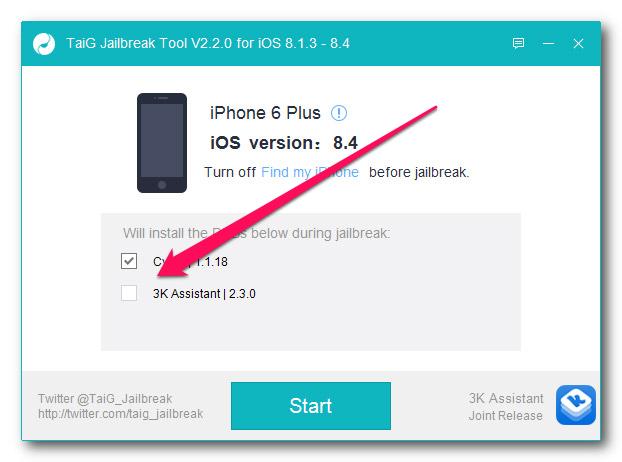 Как сделать джейлбрейк iOS 8.4 при помощи средства отTaiG?