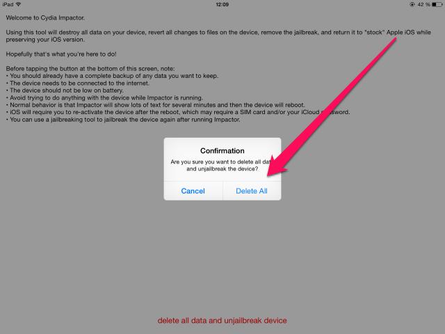 Как вернуться сджейлбрейка наофициальную прошивку без восстановления iPhone иiPad?