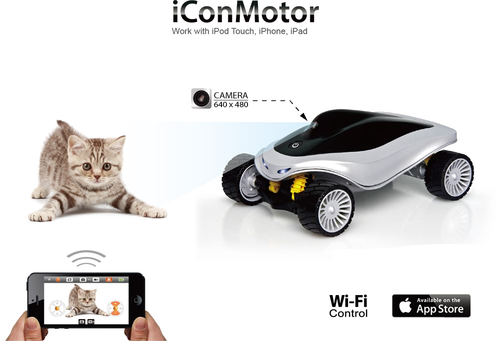iConMotor управляется с iPhone, iPad и iPod