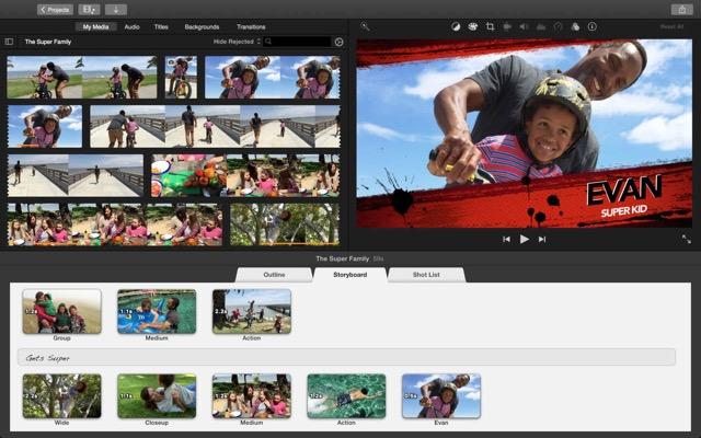 Большое обновление iMovie: поддержка 4К и другое