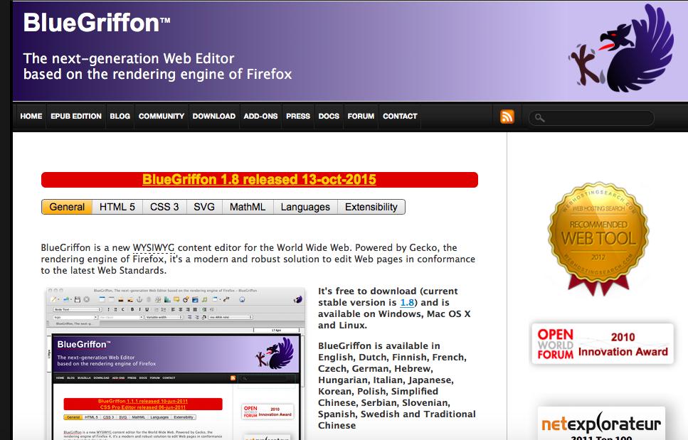Сайт Blue Griffon