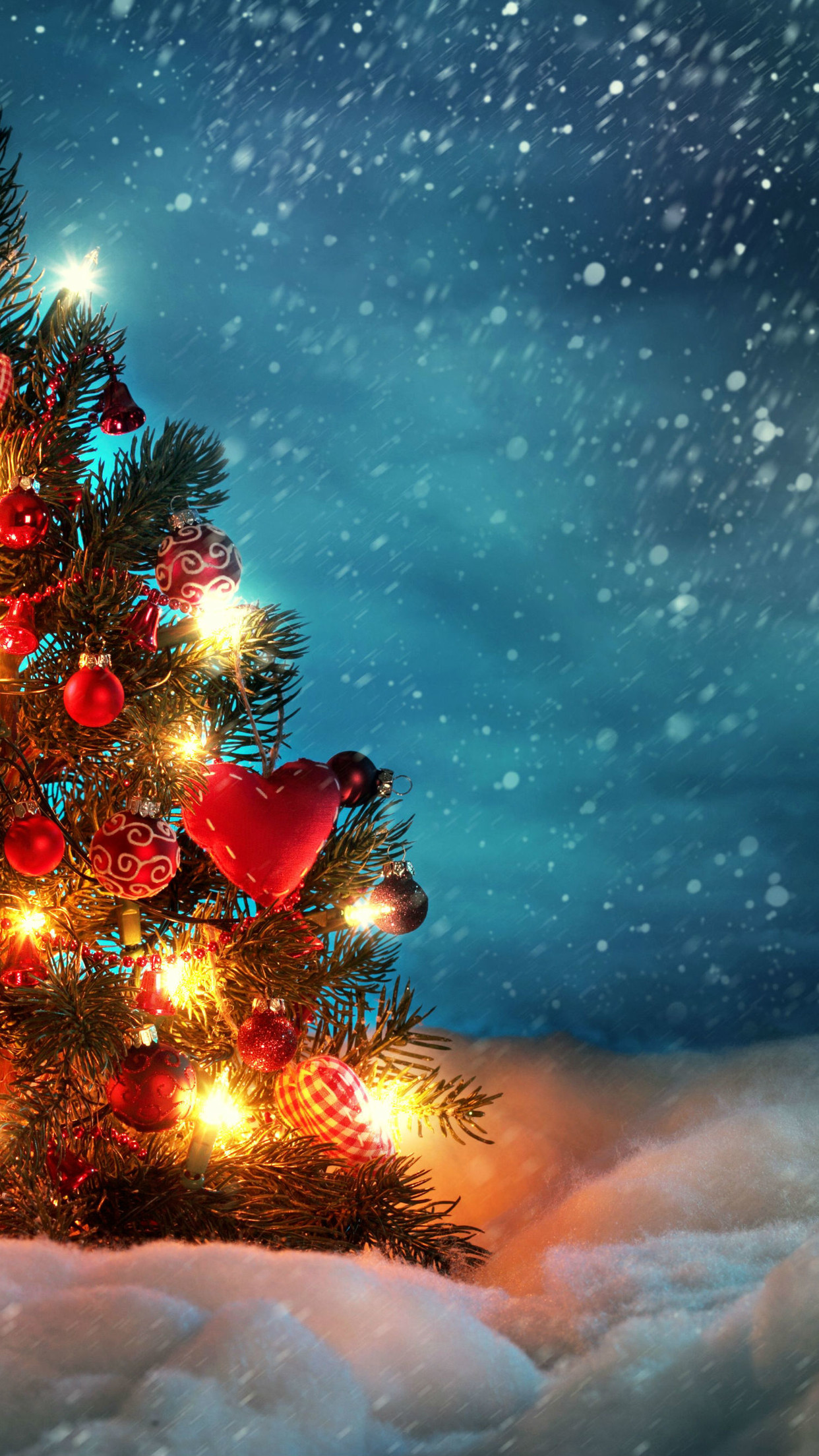 Little-Christmas-tree-in-the-snow-HD-wallpaper_1242x2208