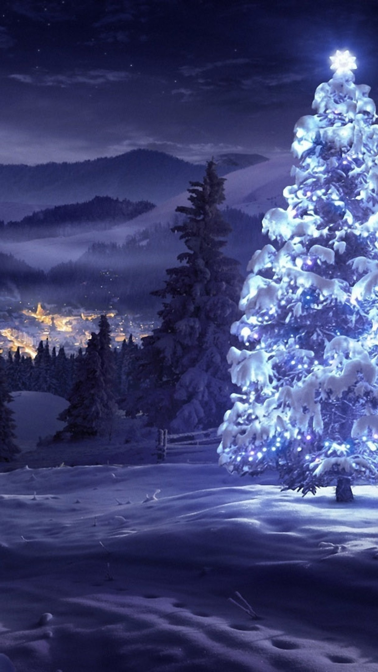 White-Christmas-tree-in-the-nature-HD-snowy-wallpaper_1242x2208