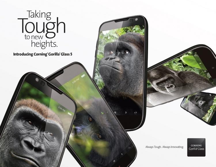 Представлено новое защитное стекло Corning Gorilla Glass 5