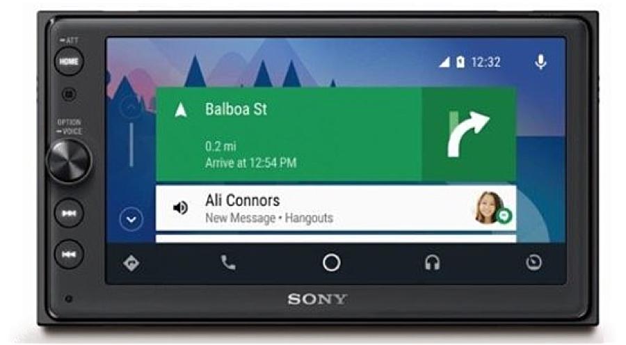 Первая аудио-система Sony для автомобиля с поддержкой CarPlay