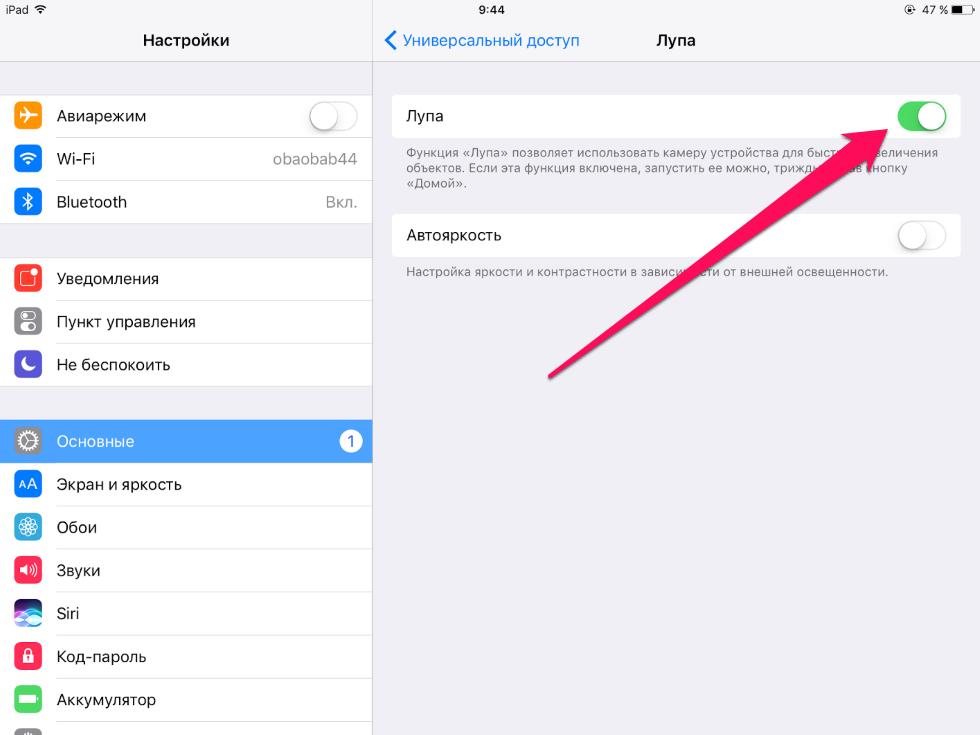 Как пользоваться режимом лупы наiPhone иiPad
