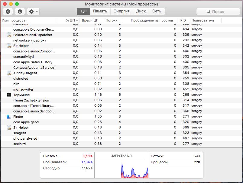 Пять способов ускорить macOS Sierra