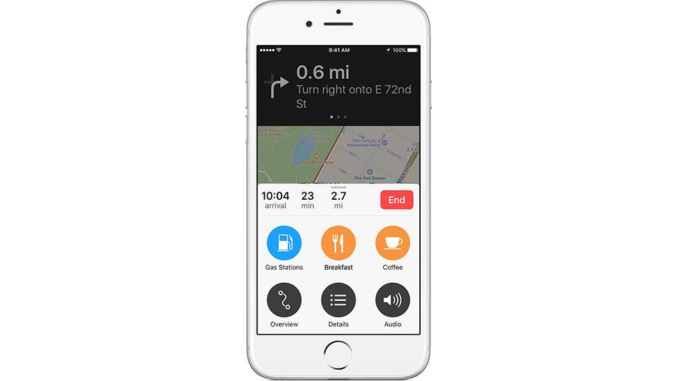 Как учесть остановку вмаршруте в«Картах» наiPhone